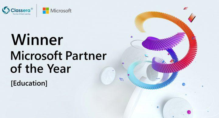 """""""كلاسيرا"""" العالمية تفوز بجائزة شريك مايكروسوفت التعليمي كأفضل شركة في قطاع تقنيات التعليم على مستوى العالم وسط تنافس قرابة 5000 شركة"""